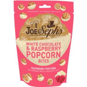 Joe Seph's popcorn i hvit sjokolade