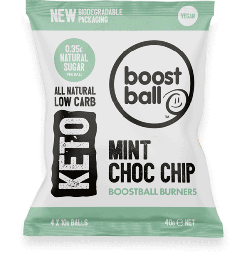 Boostball Burners Mint Choc Chip lavkarbo snacks