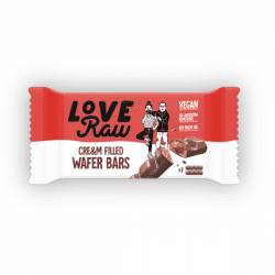 LoveRaw Cream Wafer godteri vegansk