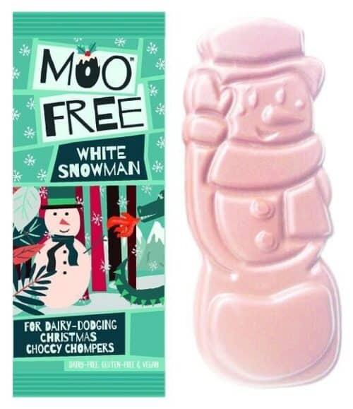 Moo Free White Snowman Bar